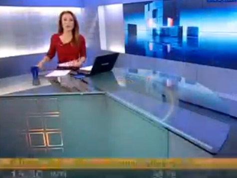 Оговорку допустила ведущая канала «Россия 24» Мария Моргун