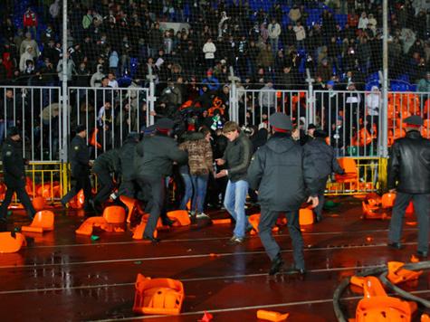В Грозном матч был остановлен из-за действий службы охраны