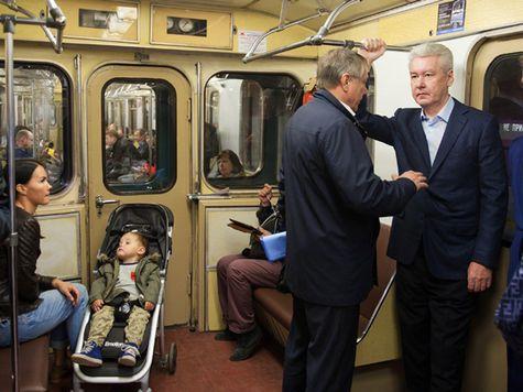 Собянин приехал в мэрию на метро