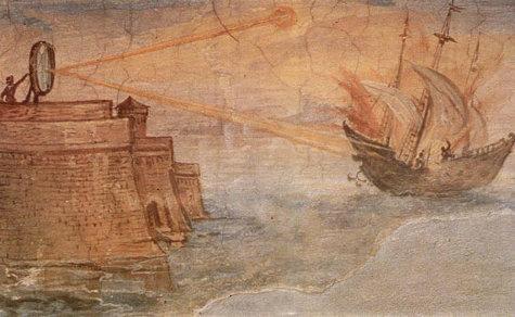 Архимед для уничтожения римского флота не использовал никаких зеркал, как это  утверждают легенды