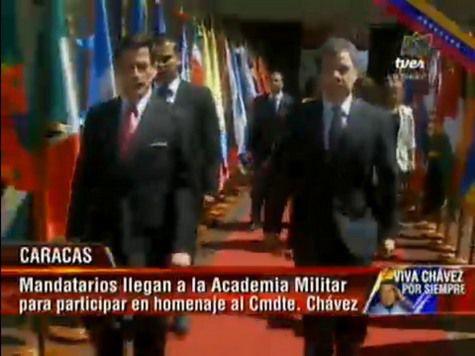 Церемония прощания с Чавесом: кадры онлайн трансляции из Венесуэлы. ВИДЕО