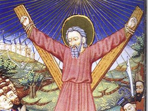 Крест Андрея Первозванного установили в Казанском соборе в присутствии патриарха Кирилла