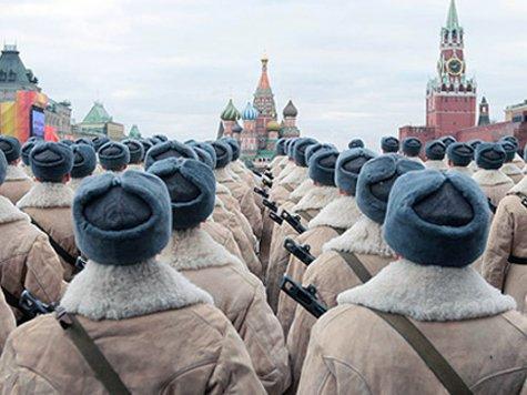 Парад 1941-го воспроизвели на Красной площади