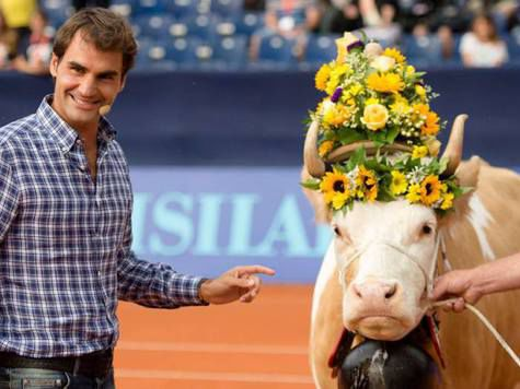 Роджеру Федереру опять подарили корову