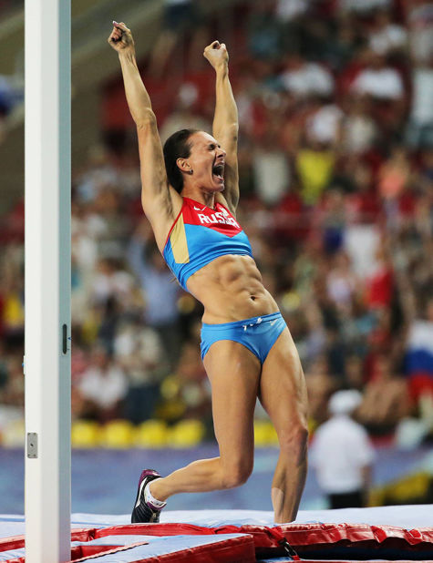 Российская прыгунья с шестом завоевала третье «золото» на московском чемпионате мира
