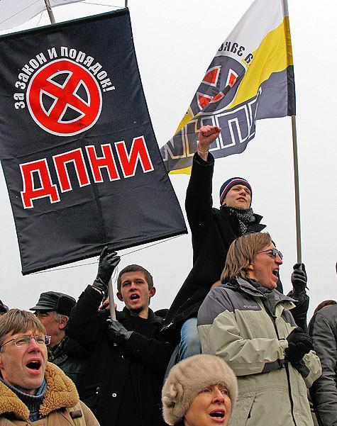 """Председатель национального совета ДПНИ Владимир Ермолаев заявил: """"В случае запрета я не несу никакой ответственности за действия сторонников"""""""