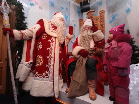 Дед Мороз померился отпусками с финским коллегой