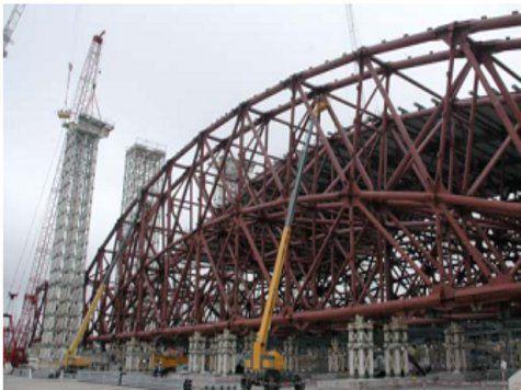 Над Чернобылем сооружают новый саркофаг