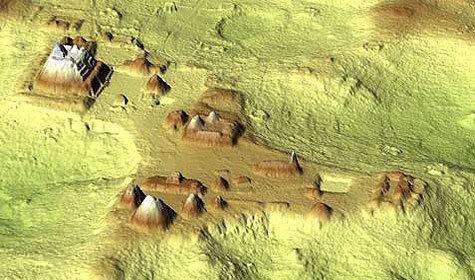 Первая трехмерная карта города древних майя