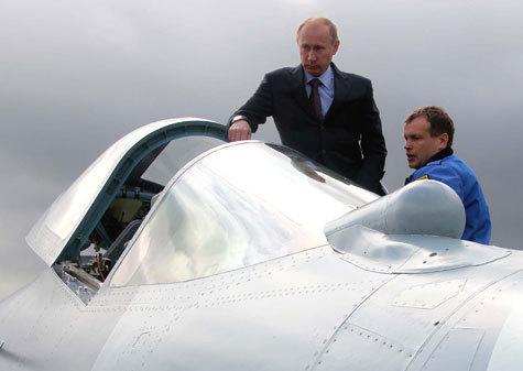 """Путину понравилось в новом истребителе """"Т-50"""""""