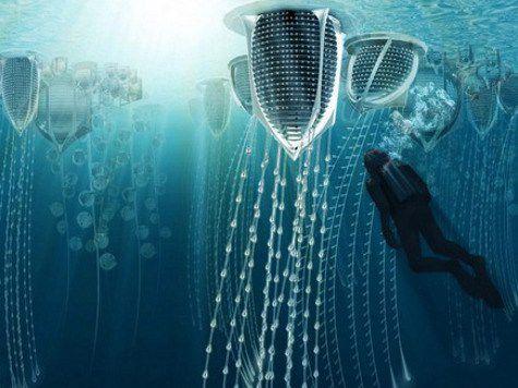 Проекты подводных городов, созданные воображением иллюстраторов, архитекторов и дизайнеров