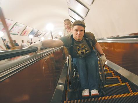 Инвалиды не ездят в метро