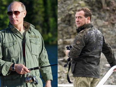 Героическая куртка Путина и розовые шнурки Медведева