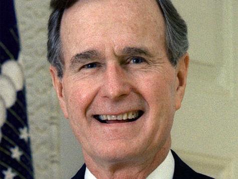 Джордж Буш-отец обрил голову в знак солидарности с малышом Патриком