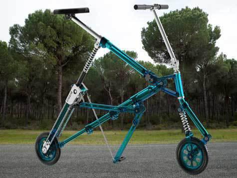 Израильтянин из России создал прыгающий как кузнечик велосипед