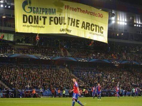 Активисты Гринпис едва не сорвали матч Лиги чемпионов