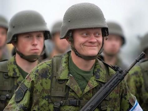 Эстонские партизаны против русских танков