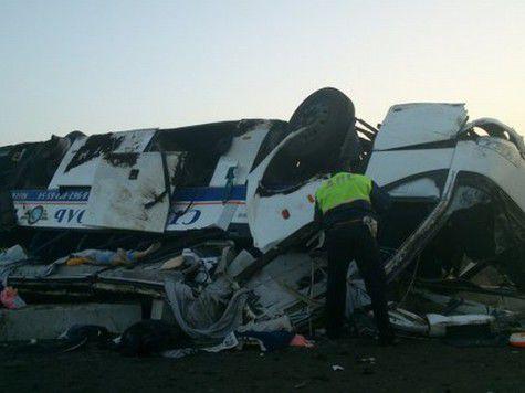 Страшная автобусная авария в Ставрополье: десятки раненых и погибшая девушка