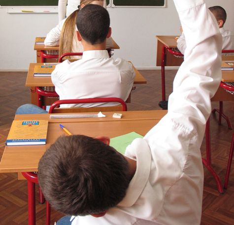Лбы учеников заменяли педагогу школьный дневник