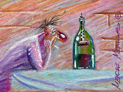 Мозг алкоголиков использует уксусную кислоту (ацетат) в качестве источника энергии