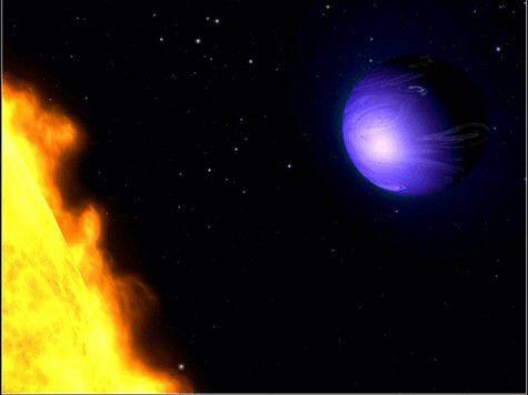 Астрономы нашли ярко-голубую планету с дождем из стекла