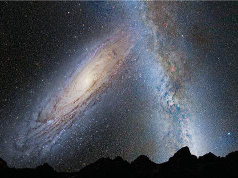 Хаббл предсказывает нашей Галактике столкновение с галактикой Андромеды через 4 миллиарда лет