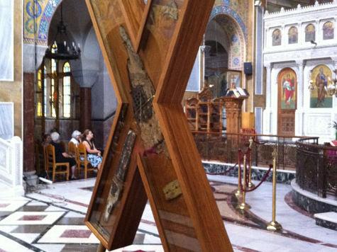 В Питер доставили Андреевский крест