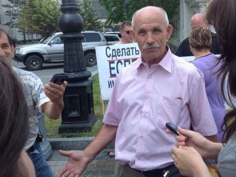 Заплатить за льготников потребовали на акции протеста автотранспортники Хабаровска
