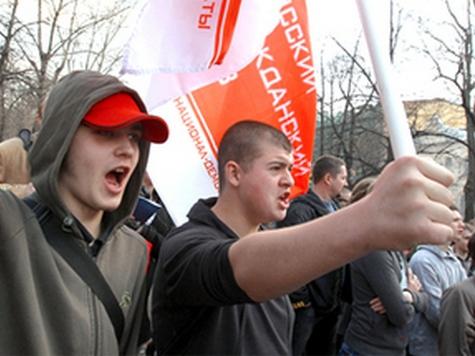 Националисты провели антиправительственный митинг под антикавказским лозунгом