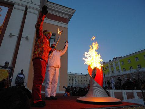 Эстафета Олимпийского огня добралась до Заполярья