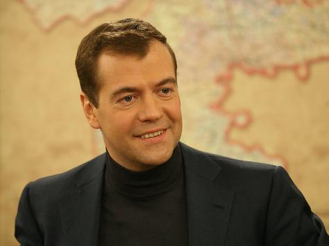 Медведев встретился с журналистами