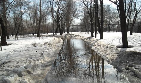 Осторожно: талый снег!