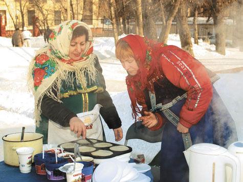 В парке Горького вместо чучела Масленицы сожгут сетку с «холодом», «ленью»  и «вьюгой»
