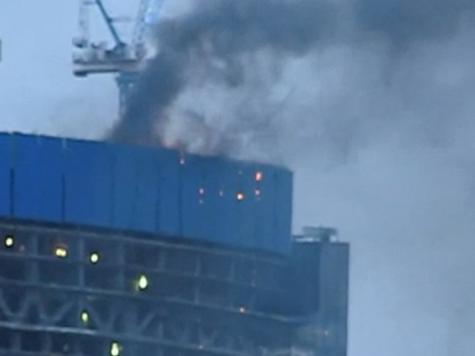 Башню «Москвы-сити», где происходит возгорание, готовили к пожарам