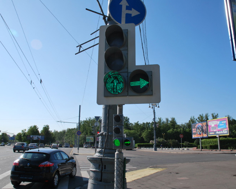Специальные светофоры для мотоциклистов начнут работать на Воробьевых горах в Москве с 1 июня