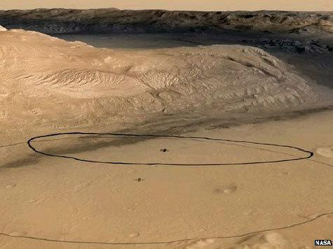 """НАСА уточнила место посадки своего марсохода """"Кьюриосити"""""""