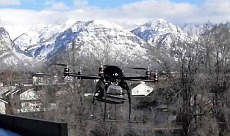 Новый беспилотник годится для сканирования многоэтажных зданий, поиска самодельных бомб, которые не разорвались, а также для участия в поисково-спасательных операциях