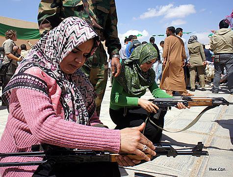 Корреспондент «МК» встретился сополченцами Каддафи