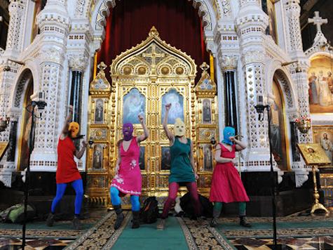 Феминистки сплясали в Храме Христа Спасителя ВИДЕО