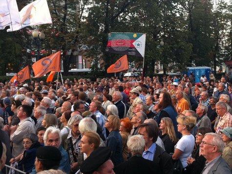В ряды митингующих вписался и Николай II