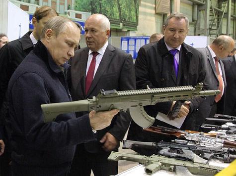 Путин встретил День оружейника с Калашниковым — человеком и автоматом
