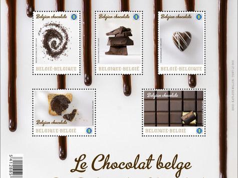 В Бельгии выпустили вкусные марки с шоколадом
