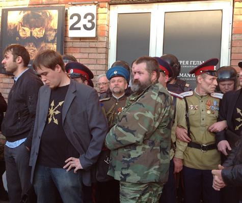 Выставку сторонников Pussy Riot атаковали православные