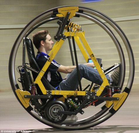 Студенты сконструировали  футуристичный электродицикл