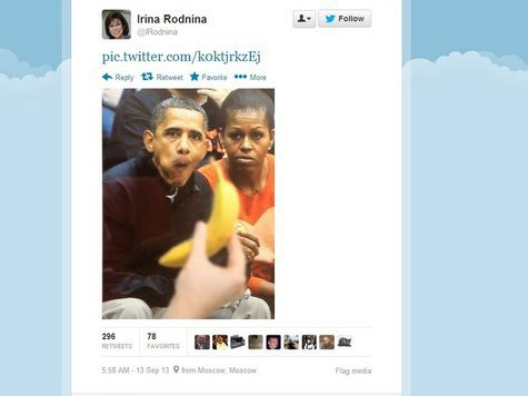 Россия, Обама, банан