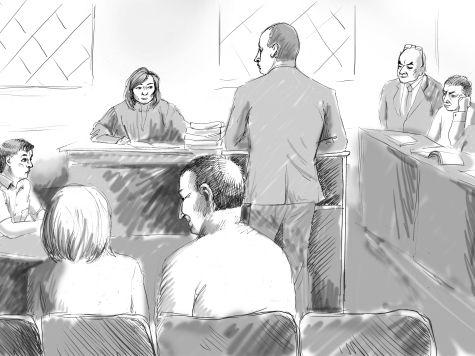 Семен Круть и его дочь заскучали в зале суда