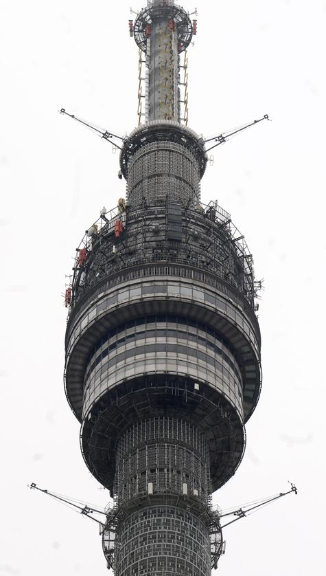 Останкинская телебашня в Москве к осени засияет по-новому