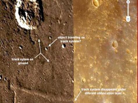 На Марсе замечены вокзал и железная дорога