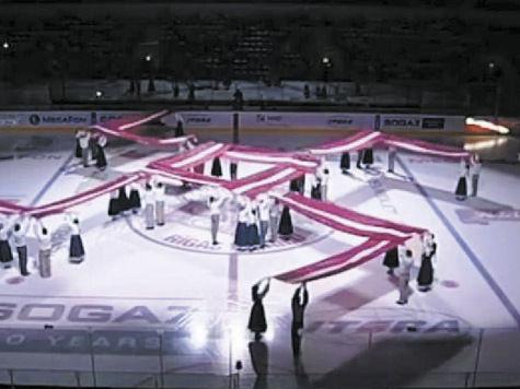 Теперь свастика появилась и на хоккее