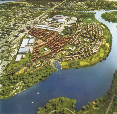 Территорию вокруг нового клубного стадиона застроят на 140 млрд рублей